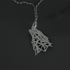 Download free 3D print files Wolf Pendant, Dawani_3D