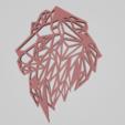 Download free 3D printer files Lion low poly design, Dawani_3D