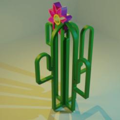 render1.png Télécharger fichier STL gratuit Cactus lowpoly • Plan pour imprimante 3D, Dawani_3D