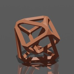 Download free 3D printer templates Sculpture géométrique low poly / Low poly geometric sculpture, Dawani_3D