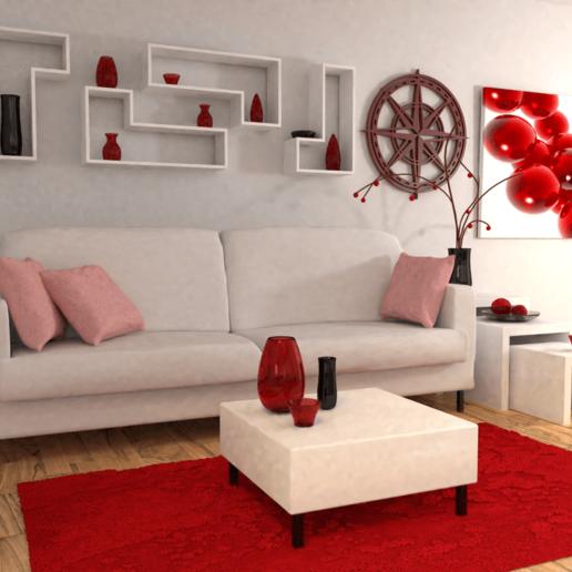 living room.png Télécharger fichier STL gratuit Rose des vents • Design pour imprimante 3D, Dawani_3D