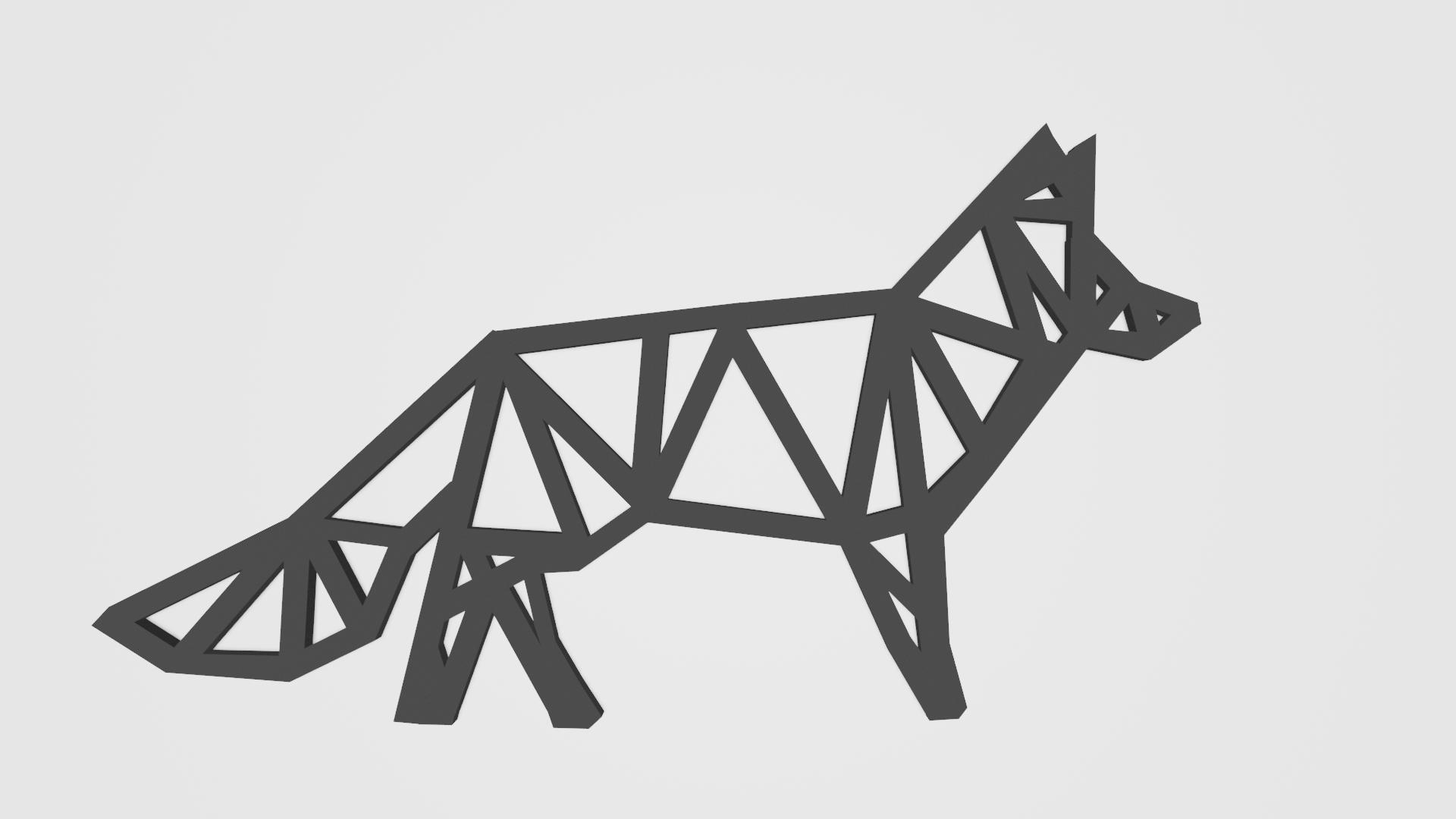 lowpoly_renard2_render.png Télécharger fichier STL gratuit Fox keychain design /  porte clésRenard design • Modèle pour impression 3D, Dawani_3D