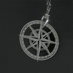 Download free 3D printing files Necklace compass, Dawani_3D
