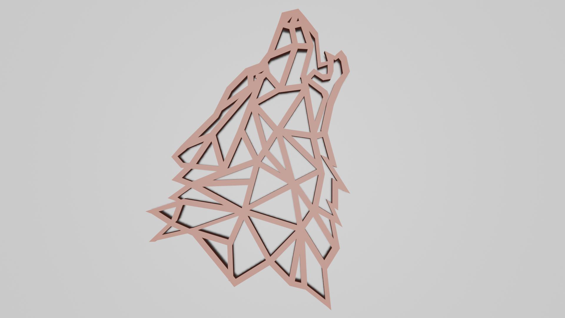 lowpoly_loups2_render.png Télécharger fichier STL gratuit Pendentif Loup • Objet pour imprimante 3D, Dawani_3D