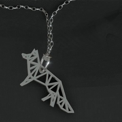 Télécharger plan imprimante 3D gatuit Pendtif renard low poly, Dawani_3D