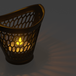 Download free STL file Geometric candle jar, Dawani_3D