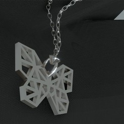 Download free 3D printer templates Butterfly necklace / Butterfly pendant, Dawani_3D