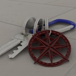 Download free 3D printer model Wind rose key holder, Dawani_3D