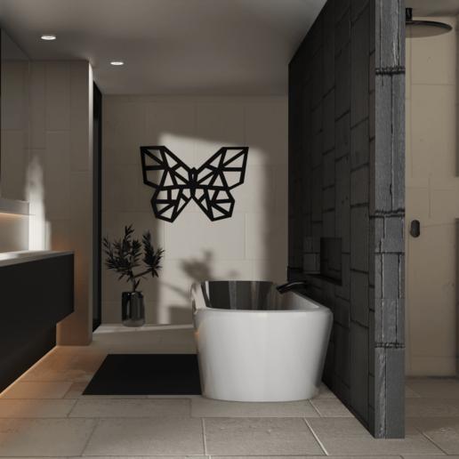 Télécharger fichier STL gratuit Papillon low poly art mural • Objet pour imprimante 3D, Dawani_3D