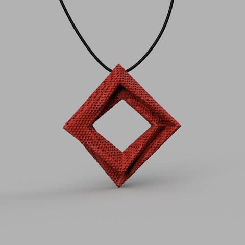 3D print red pendant-1.jpg Download STL file Pendant v1 3D model • 3D print design, renza3D
