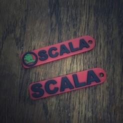 Download 3D printer files 3D Skoda Auto Scala keychain, Plasticbear