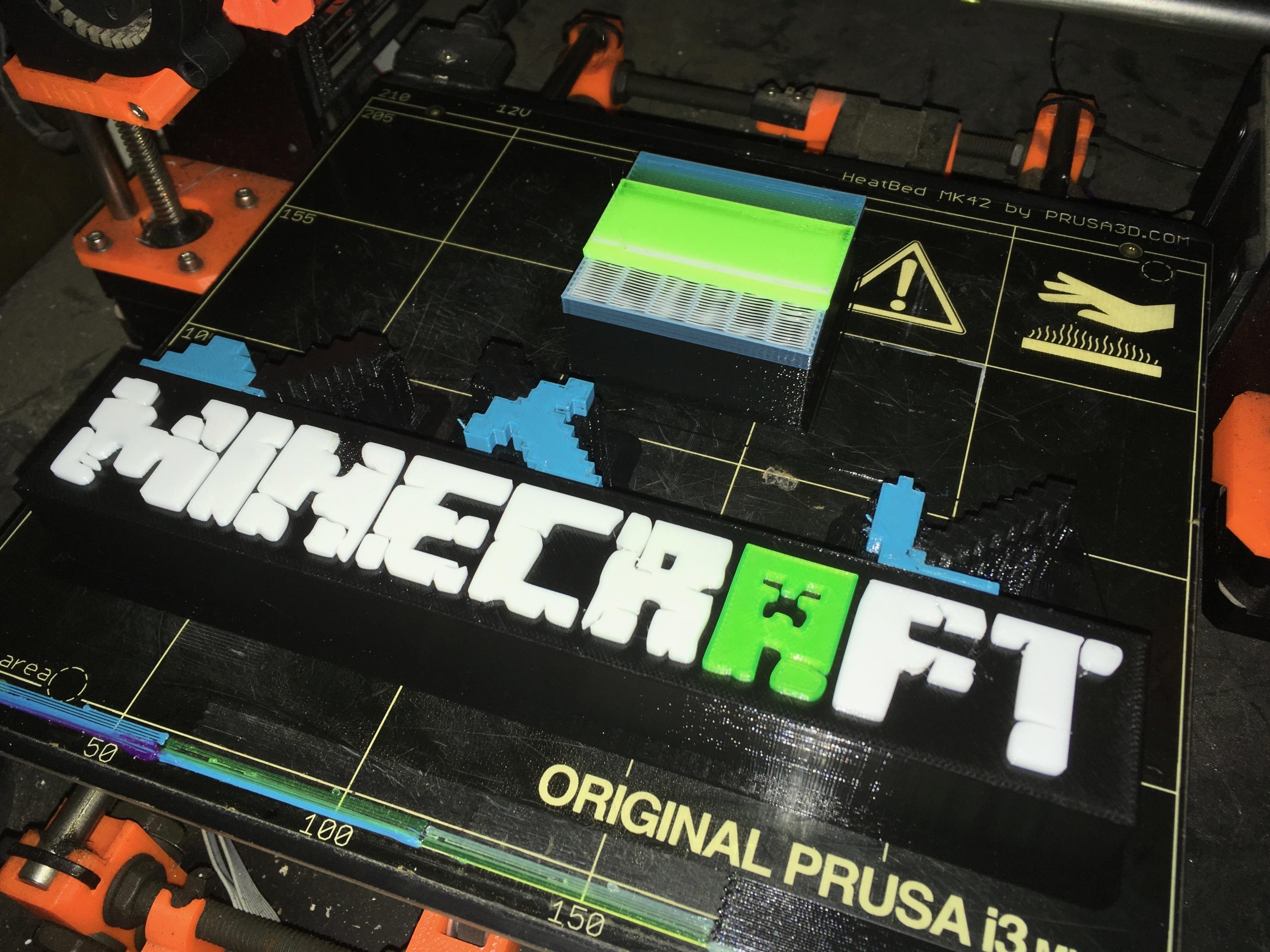 Décoration de table Minecraft