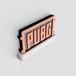 Download 3D printing designs PUBG STAND LOGO, Plasticbear