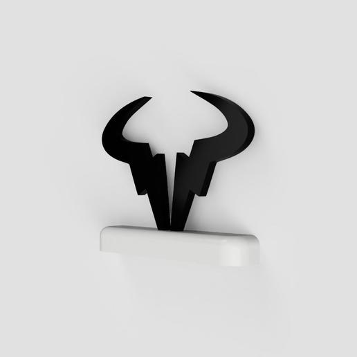 Download Stl File Rafael Nadal Bull Logo Stand Logo 3d Printable Object Cults