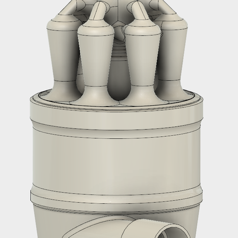 9.PNG Download STL file 7 Head Multi Cyclone Chamber v2 (Compact Size Added) • 3D printable design, kanadali