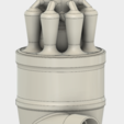 STL files 7 Head Multi Cyclone Chamber v2 (Compact Size Added), kanadali