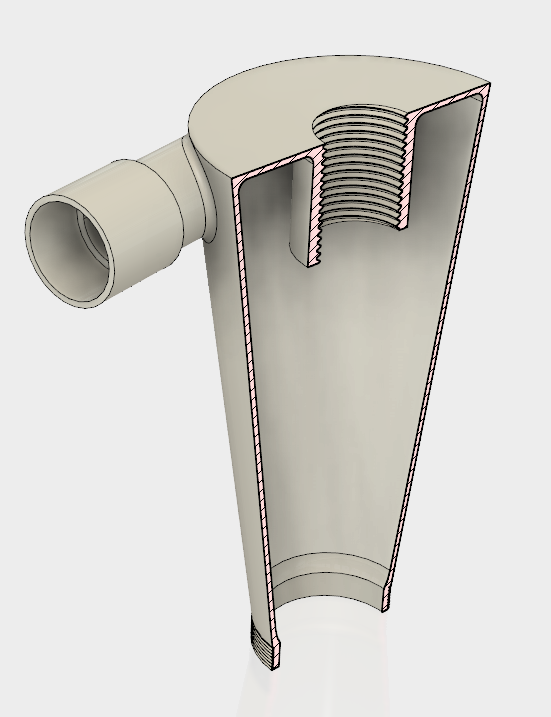 2.PNG Download STL file 7 Head Multi Cyclone Chamber v2 (Compact Size Added) • 3D printable design, kanadali