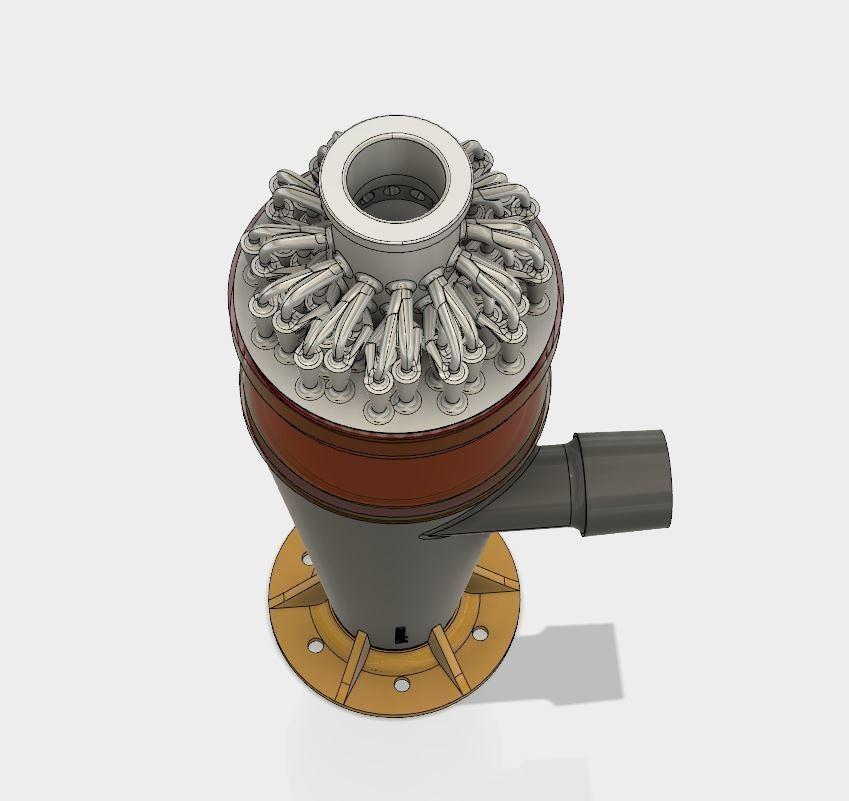 3.JPG Download STL file 48 Head Multi Cyclone Chamber (Compact Size Added) • 3D printer model, kanadali