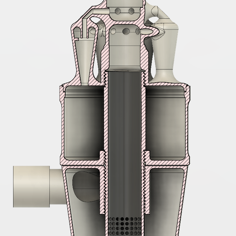 8.PNG Download STL file 7 Head Multi Cyclone Chamber v2 (Compact Size Added) • 3D printable design, kanadali