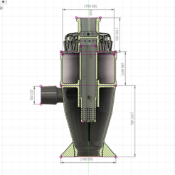 Download STL files 48 Head Multi Cyclone Chamber (Compact Size Added), kanadali