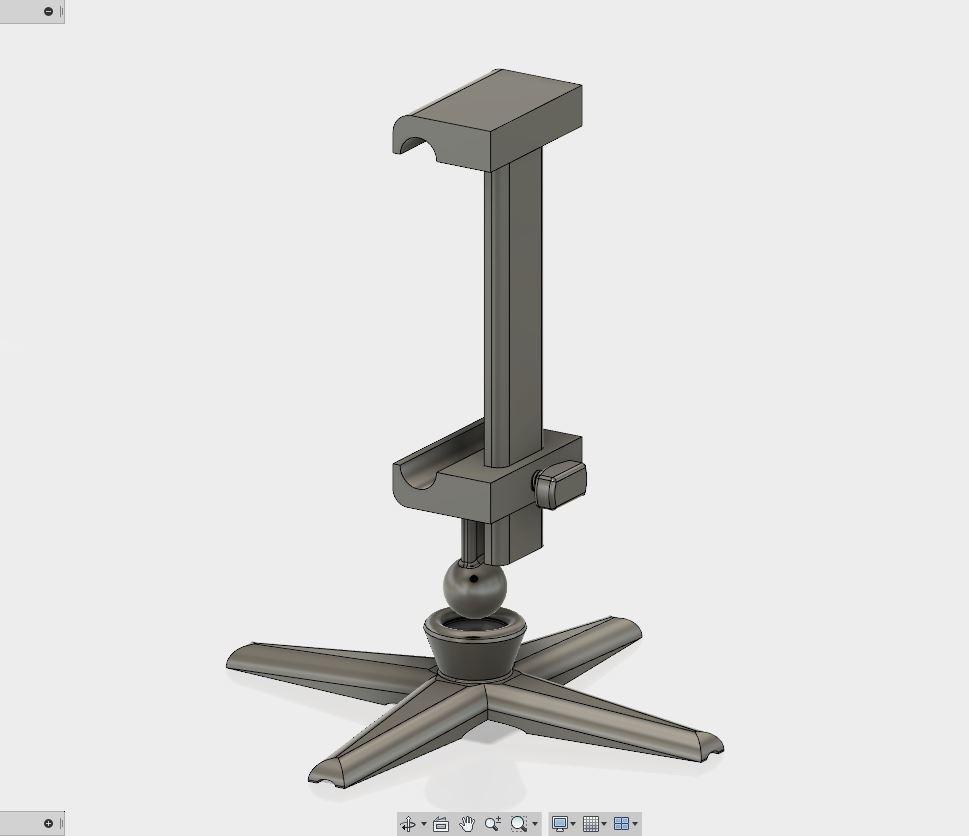 2.JPG Download free STL file Phone holder (adjustable knob)  • Template to 3D print, kanadali