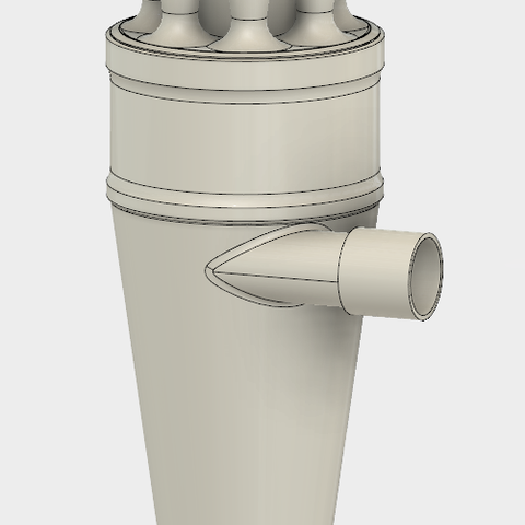 6.PNG Download STL file 7 Head Multi Cyclone Chamber v2 (Compact Size Added) • 3D printable design, kanadali