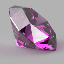 Diamant rose.png Download STL file Diamond • 3D print model, Abdel