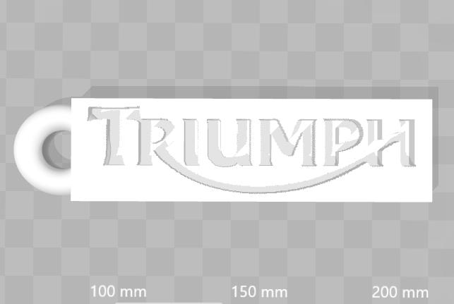 Capture Porte clé Triumph (anneau coté).PNG Download free STL file Triumph Keychain • Design to 3D print, 3dleofactory