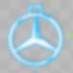 Free Mercedes-Benz Key Chain 3D printer file, Leo_Royer