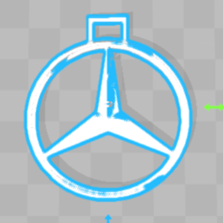 Download free 3D printing templates Mercedes-Benz Key Chain, 3dleofactory