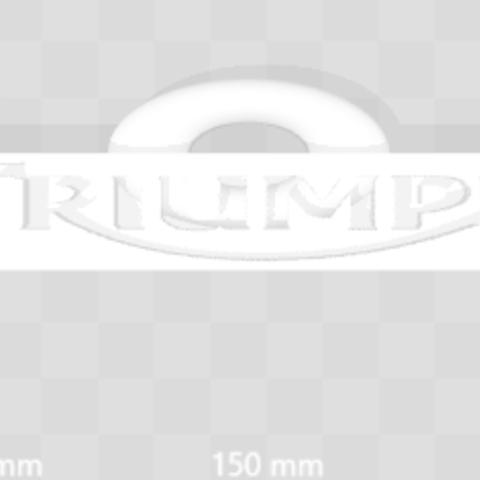 Free Triumph Keychain STL file, Leo_Royer