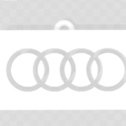Free Audi Keyring 3D printer file, Leo_Royer