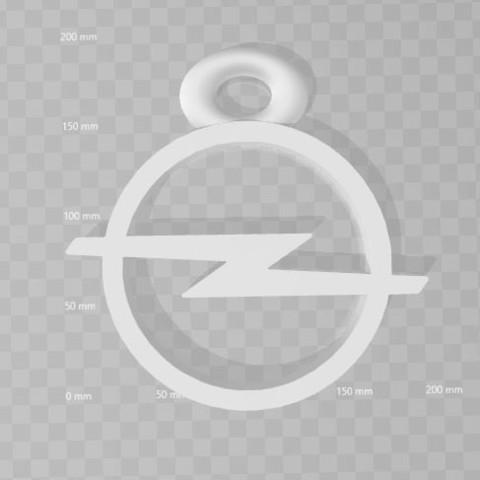 Download free 3D printer designs Opel key ring, 3dleofactory