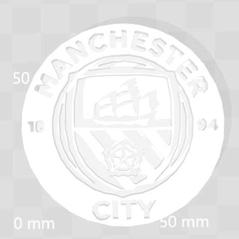 Download free 3D printing models Manchester City logo, 3dleofactory