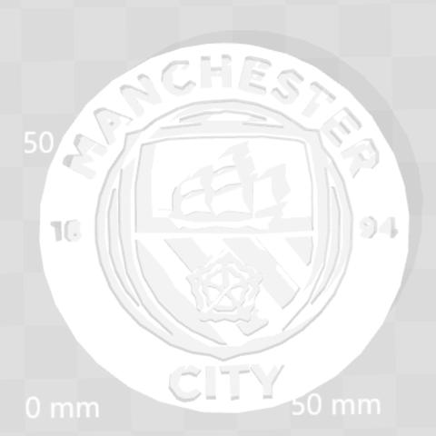 fichier stl gratuit Logo Manchester City, Leo_Royer