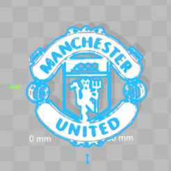 Download free 3D print files Manchester united Logo, 3dleofactory