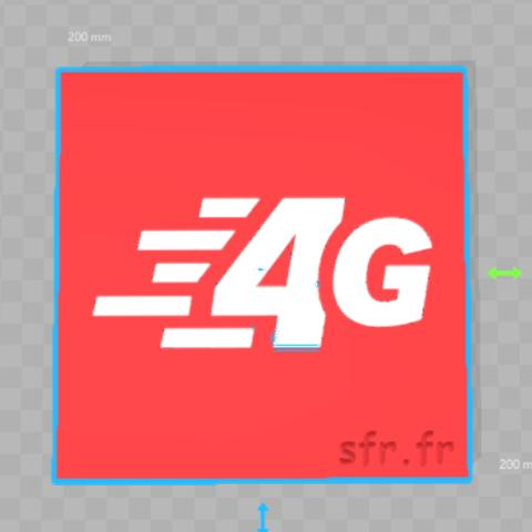 Descargar STL gratis Llavero 4G sfr.fr, 3dleofactory