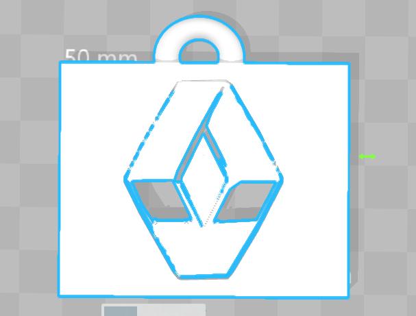 Porte clé Renauld.PNG Download free STL file Renault Key Chain • 3D print object, 3dleofactory