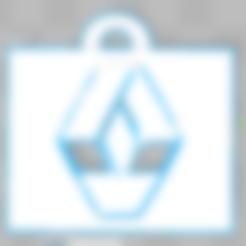 Free 3d printer designs Renault Key Chain, Leo_Royer