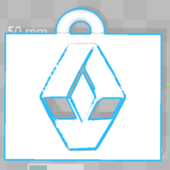Free 3D printer file Keyring Renault, Leo_Royer