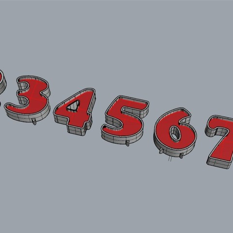 3D print model NUMBERS FOR CANDY BAR / BIRTHDAY PARTY, MarianoP