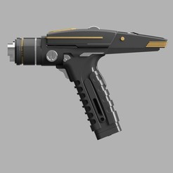 phaser_discovery final2.jpg Download STL file Phaser Star Treck discovery • 3D printer design, Ecto_Props