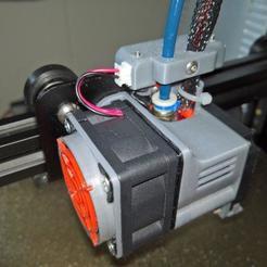 Impresiones 3D gratis Soporte tubo PTFE, cable y conector para FANS Ender 3., lamosca01