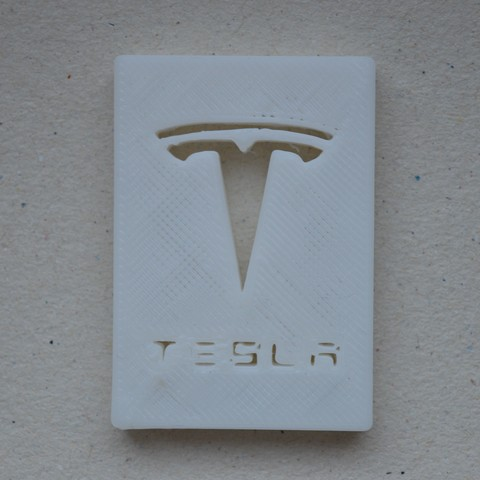 Download free 3D model Tesla Logo, francoisgd200801