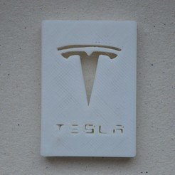 Free 3D printer model Tesla Logo, francoisgd200801