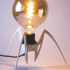 Spider Lamp  STL file, Straxer