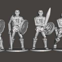 Free 3D print files Supportless Skellies Group 1, mrhers2