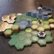 Free 3D printer designs Locking Hex Terrain Stone Path, mrhers2