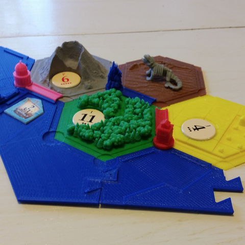 Free 3D printer model Catan 6 Player Water Extension, mrhers2