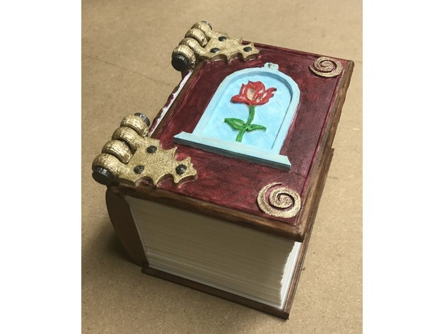 belle book.jpg Download free STL file Belle Book Dice Box • 3D print design, mrhers2